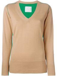 свитер c V-образным вырезом   Sacai