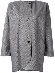 пальто с принтом в клетку Emanuel Ungaro Vintage