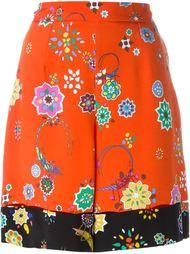 шорты с цветочным принтом   Emilio Pucci