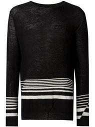 свитер с контрастными полосками   Haider Ackermann