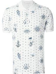 футболка-поло с принтом  Alexander McQueen