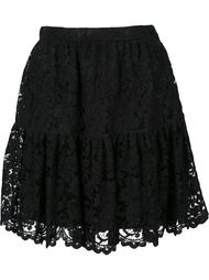 кружевная мини-юбка  Saint Laurent