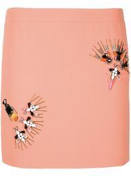 декорированная юбка прямого кроя Stella McCartney