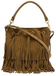 средняя сумка-мешок 'Emmanuelle' с бахромой Saint Laurent