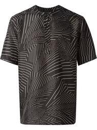 рубашка без воротника с принтом Christopher Kane