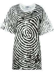 футболка с принтом отпечатков пальцев  Jeremy Scott