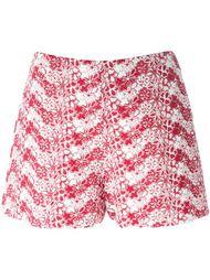 шорты с цветочной вышивкой Giamba