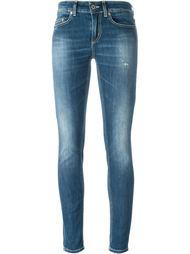 выбеленные джинсы кроя скинни   Dondup