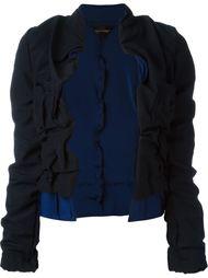 укороченный пиджак с присборенной отделкой Comme Des Garçons Vintage