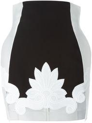 юбка с цветочной аппликацией  Antonio Berardi