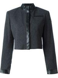 укороченный пиджак с контрастной окантовкой Stephen Sprouse Vintage