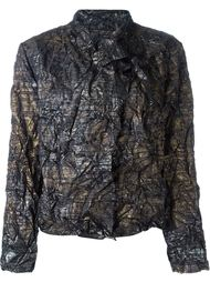 куртка с запахом и эффектом помятости Issey Miyake Vintage