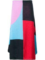 трикотажная юбка дизайна колор-блок Roksanda