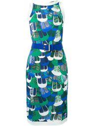 платье с принтом перьев Dsquared2