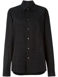 рубашка с плиссированным нагрудником Ann Demeulemeester Blanche