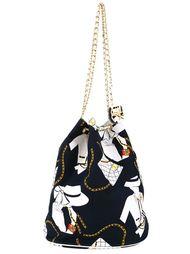 сумка-мешок с принтом 'Jumbo' Chanel Vintage