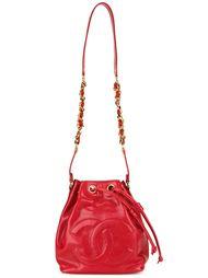 сумка-мешок с тисненым логотипом Chanel Vintage