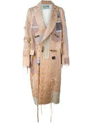 длинное пальто в стиле пэчворк  Heikki Salonen