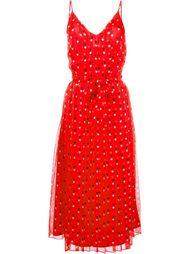 платье с мелким принтом из сердец Christopher Kane