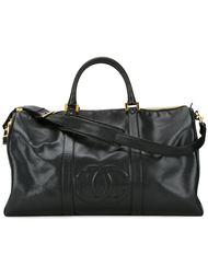 дорожная сумка с тисненым логотипом Chanel Vintage