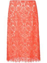 кружевная юбка прямого кроя Carolina Herrera