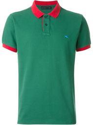 футболка-поло с контрастным воротником и окантовкой на рукавах  Etro