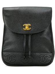 рюкзак с тисненым логотипом Chanel Vintage