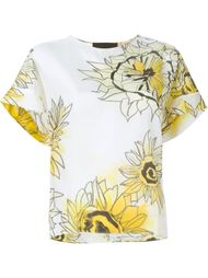 блузка с принтом подсолнухов Nº21