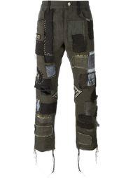 укороченные джинсы в стиле пэчворк  Heikki Salonen