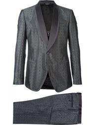 костюм-тройка с жаккардовым узором Dolce & Gabbana