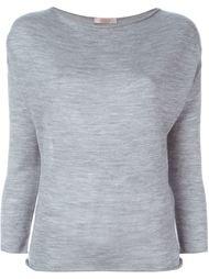 свитер с вырезом-лодочкой Liska
