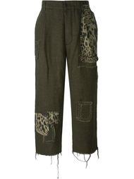 укороченные брюки в стиле пэчворк  Heikki Salonen