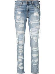джинсы бойфренда с потертой отделкой Rag & Bone /Jean