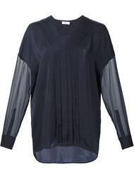 прозрачная блузка с плиссировкой спереди Vince