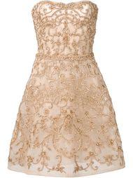 платье с отделкой из бисера Monique Lhuillier