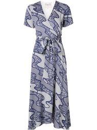 платье с запахом и контрастными панелями Sea