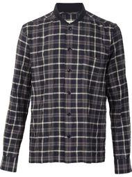рубашка с воротником в рубчик YMC