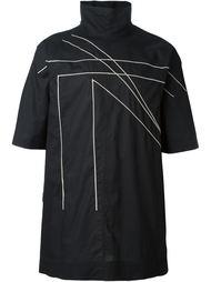 рубашка с воротником-воронкой  Rick Owens