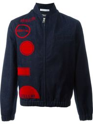джинсовая куртка с геометрическим принтом J.W.Anderson