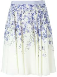 юбка с принтом орхидей Giambattista Valli