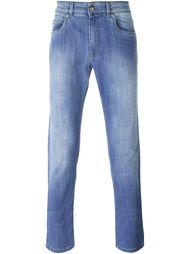 джинсы с потертой отделкой Fay