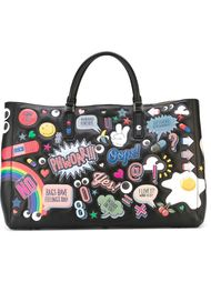 сумка-тоут 'Ebury all-over stickers'  Anya Hindmarch