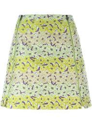 жаккардовая мини-юбка с цветочным принтом Giamba