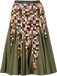 плиссированная юбка А-силуэта Sacai