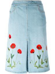 джинсовая юбка с вышивкой  Stella McCartney