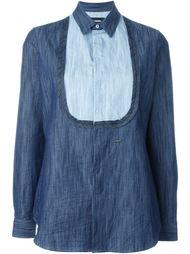 джинсовая рубашка с нагрудником Dsquared2