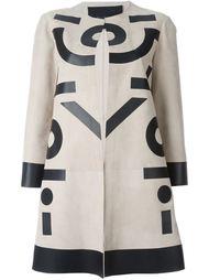 пальто с геометрическим узором Blancha