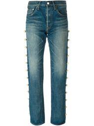 украшенные жемчугом джинсы  Tu Es Mon Tresor