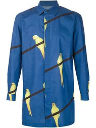 рубашка с принтом попугаев Issey Miyake Men