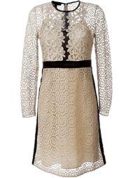 кружевное платье А-образного кроя   Burberry Prorsum